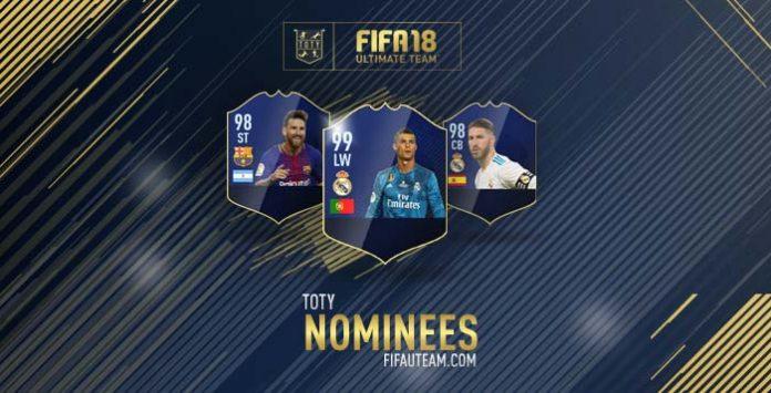 Lista de Jogadores Nomeados à Equipa do Ano de FIFA 18