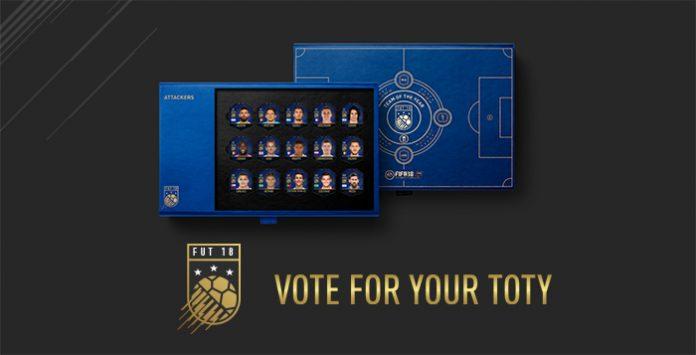 Vote na sua sua TOTY Favorita de FIFA 18 Ultimate Team