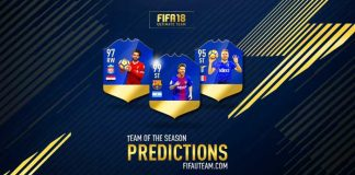 Previsão de Todas as Team of the Season de FIFA 18