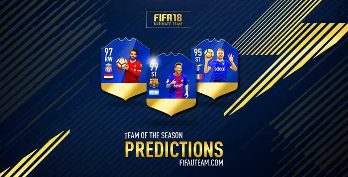 Previsão de Todas as Team of the Season de FIFA 18