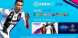 Demo de FIFA 19 - Data, Equipas e Outras Informações