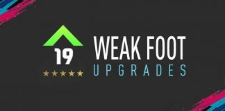 Guia dos Upgrades do Weak Foot para FIFA 19 Ultimate Team