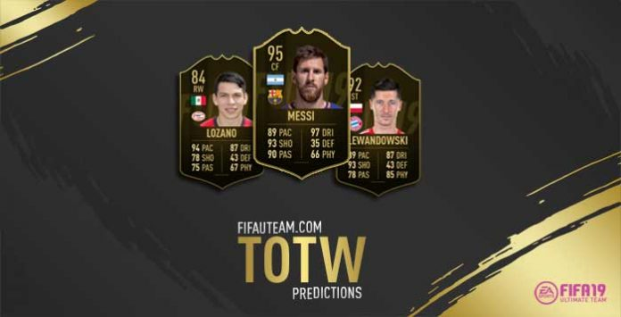 Previsão das Team of the Week de FIFA 19 Ultimate Team