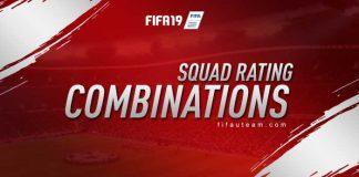 Combinações de Ratings de Equipas em FIFA 19 Ultimate Team