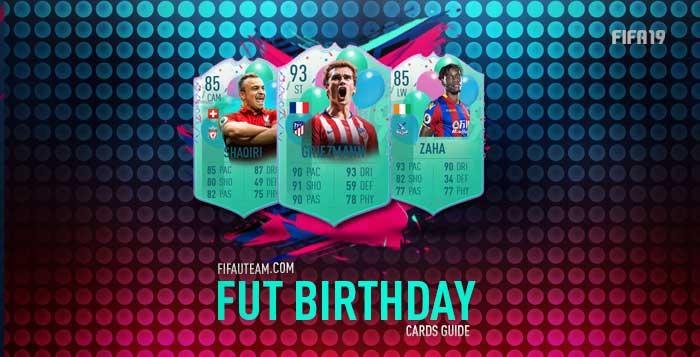 Guia de Cartas FUT Birthday para FIFA 19 Ultimate Team