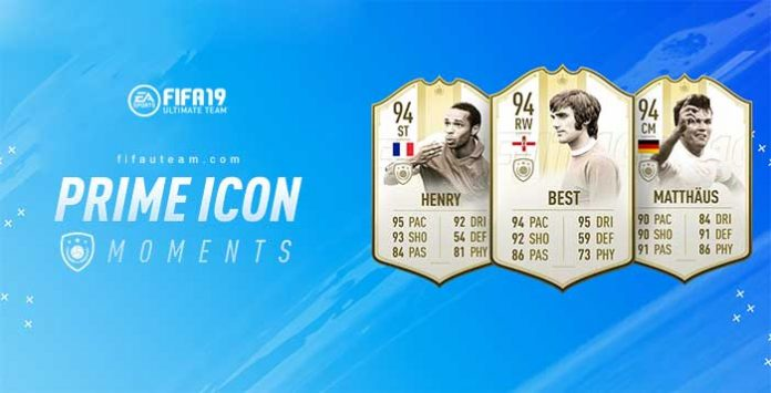 Momentos Prime ICONS para FIFA 19 Ultimate Team