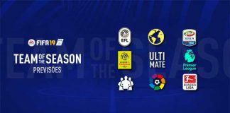 Previsão de Todas as Team of the Season de FIFA 19