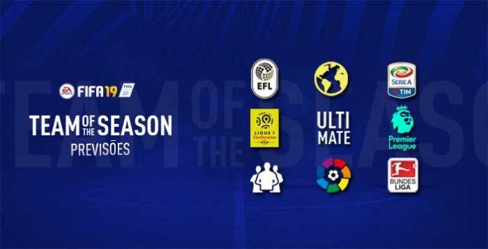 Previsão de Todas as Team of the Season de FIFA 19