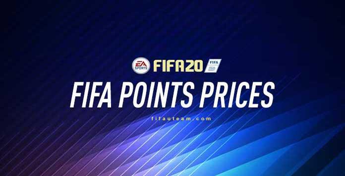 Preços dos FIFA Points para FIFA 20 Ultimate Team