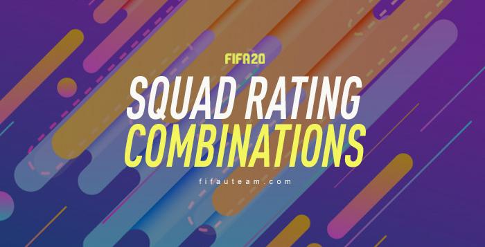 Combinações de Ratings de Equipas em FIFA 20 Ultimate Team