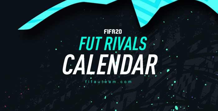 Calendário do FUT Division Rivals para FIFA 20