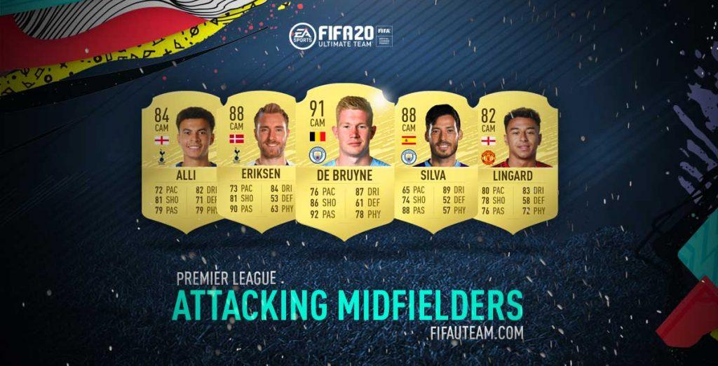 Médios Atacantes da Premier League em FIFA 20