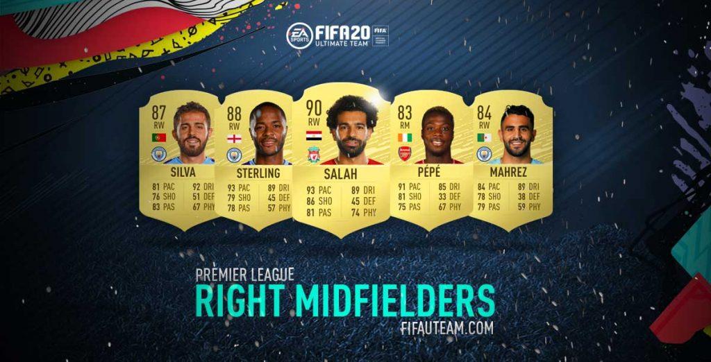 Médios Direitos da Premier League em FIFA 20