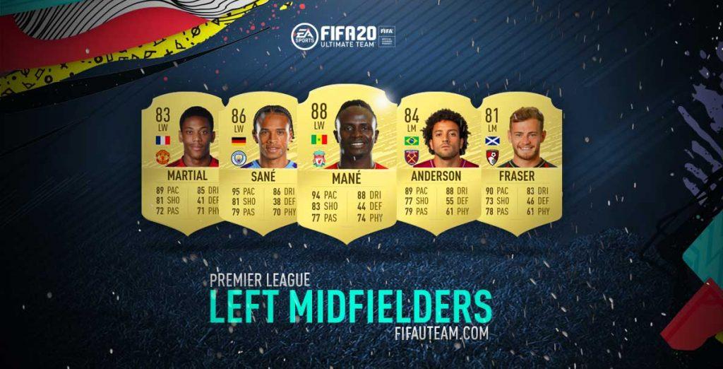 Médios Esquerdos da Premier League em FIFA 20