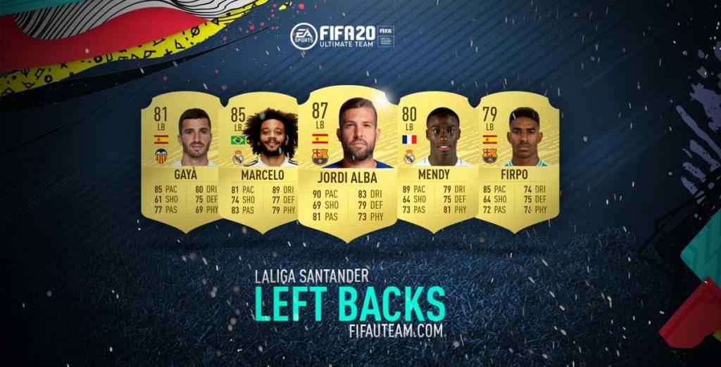 Laterais Esquerdos da LaLIga em FIFA 20