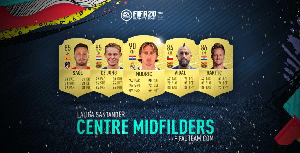 Médios Centro da Laliga em FIFA 20