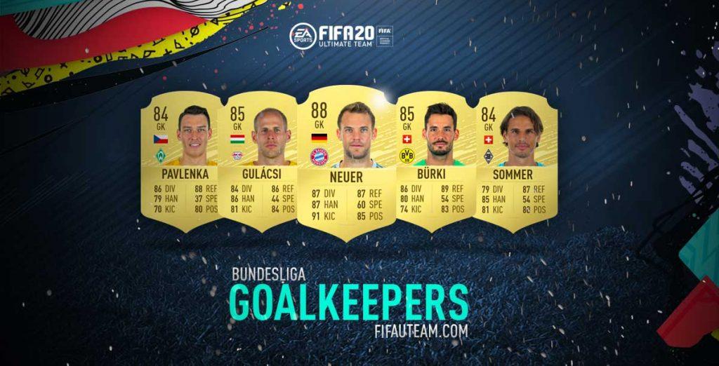 Guarda-redes da Bundesliga em FIFA 20