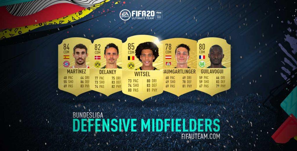 Médios Defensivos da Bundesliga em FIFA 20