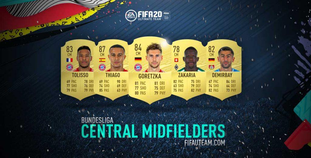 Médios Centro da Bundesliga em FIFA 20