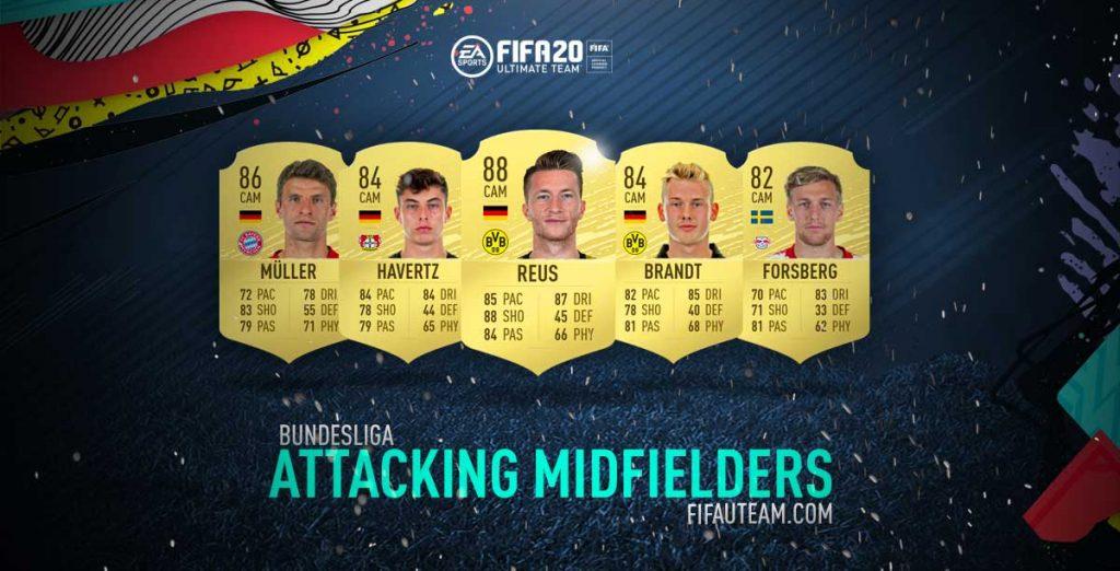 Médios Atacante da Bundesliga em FIFA 20