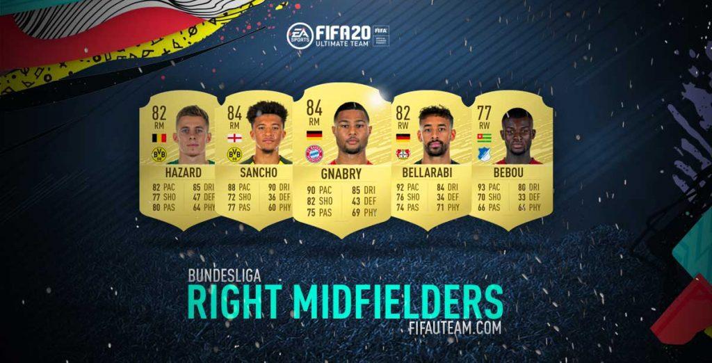 Médios Direito da Bundesliga em FIFA 20