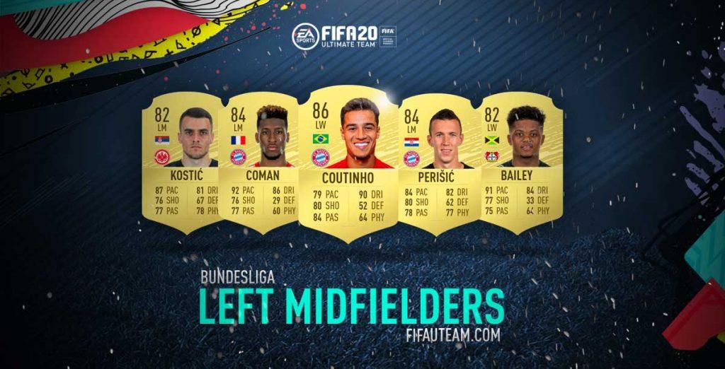 Médios Esquerdos da Bundesliga em FIFA 20