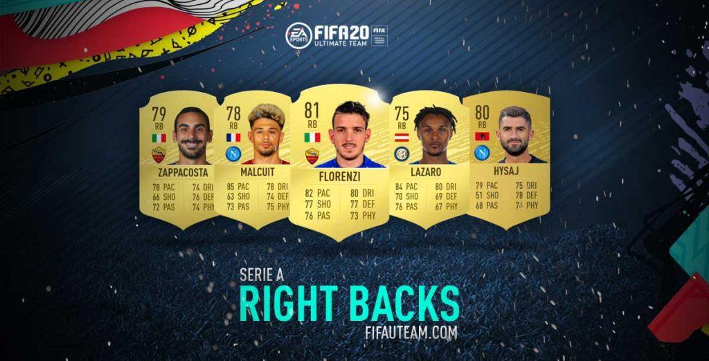 Melhores Defesas Direitos da Serie A em FIFA 20