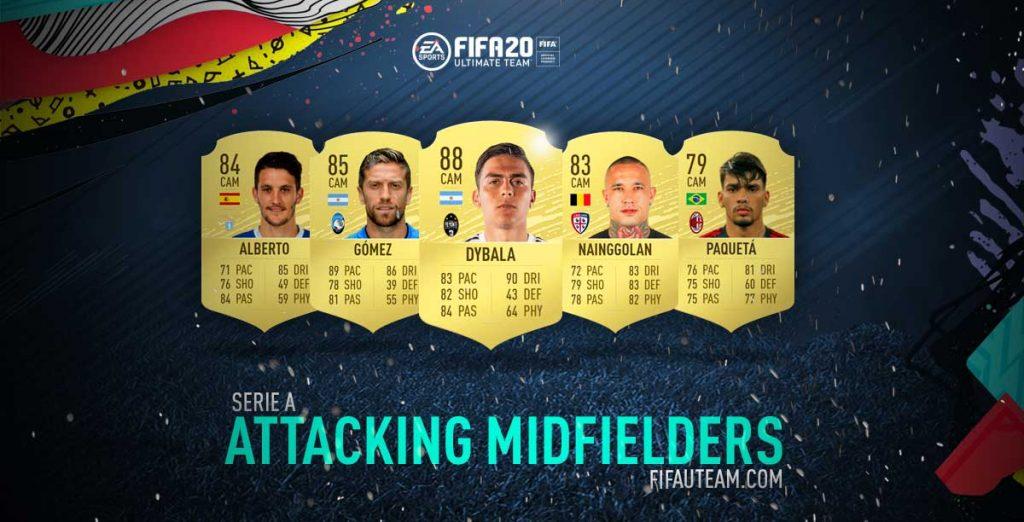 Médios Atacantes da Serie A para FIFA 20