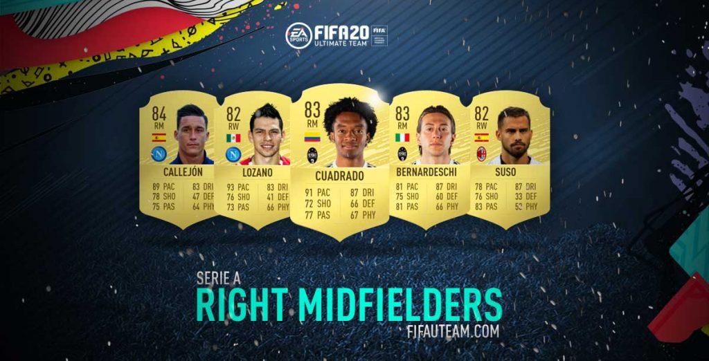 Médios Direitos da Serie A para FIFA 20