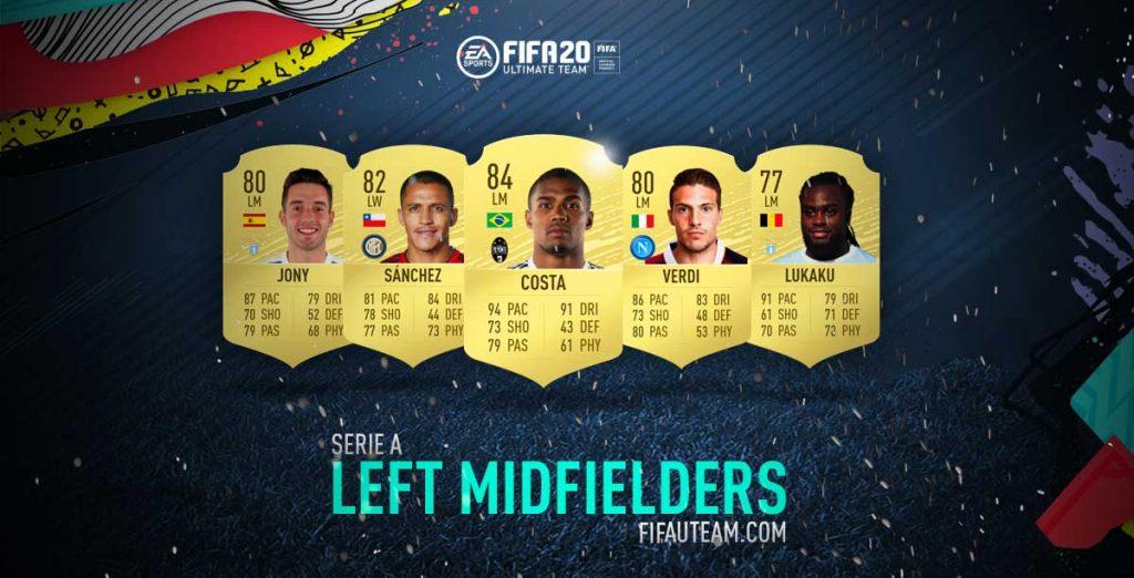 Médios Esquerdos da Serie A para FIFA 20