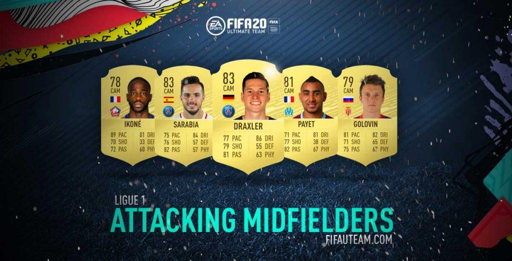 Melhores Médios Atacantes da Ligue 1 em FIFA 20