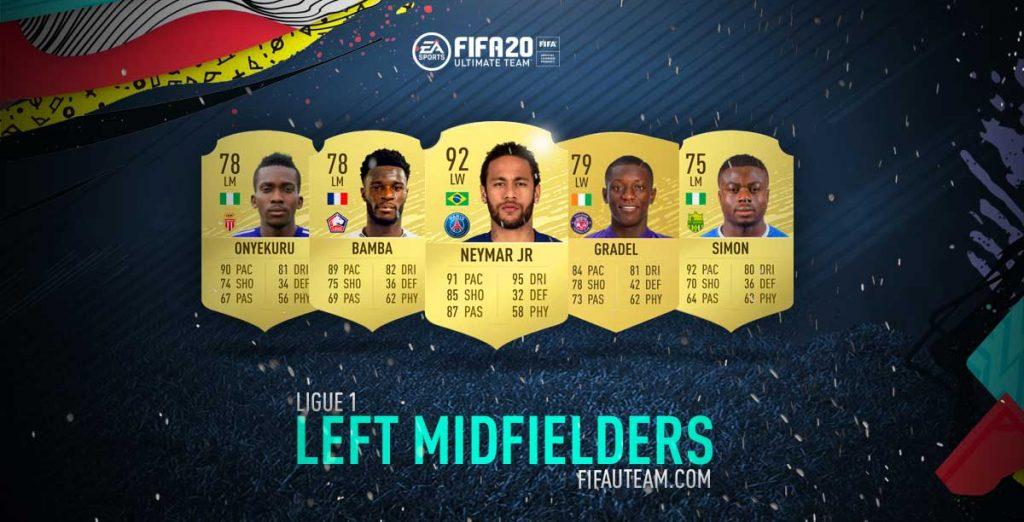 Melhores Médios Esquerdos da Ligue 1 em FIFA 20