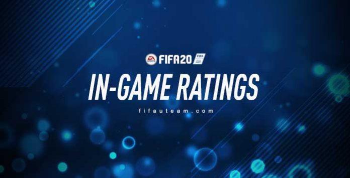 In-Game Ratings de FIFA 20 Ultimate Team