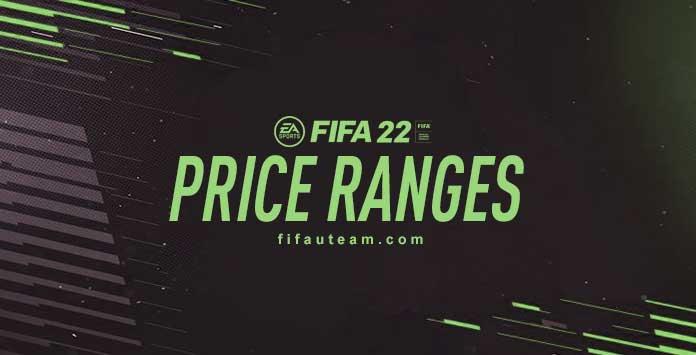 Price Ranges para FIFA 22 Ultimate Team