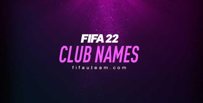 Nomes de Clubes - FIFA 22